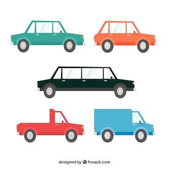 Variedade clássica de carros clássicos