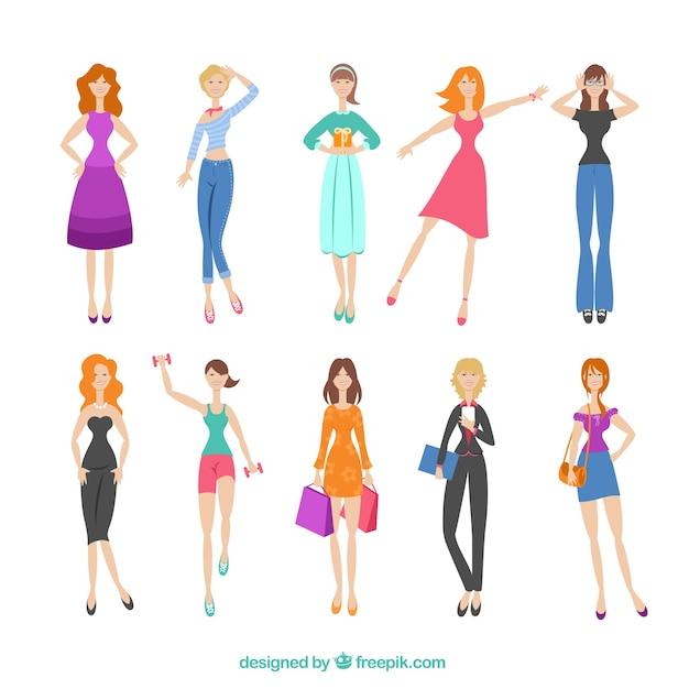 Variedade da mulher da forma