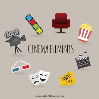 Variedade de acessórios filme plano