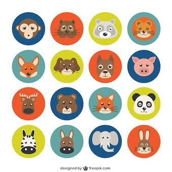 Variedade de avatares animais