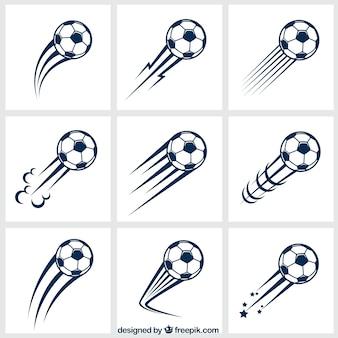 Variedade de bolas de futebol