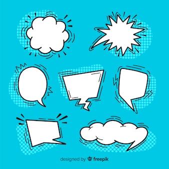 Variedade de bolhas do discurso em quadrinhos