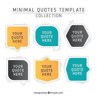 Variedade de citações no estilo linear
