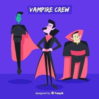 Variedade de coleção de personagens de vampiros