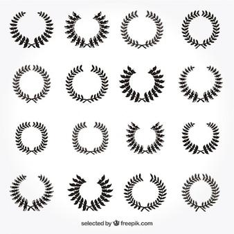 Variedade de coroas de louros