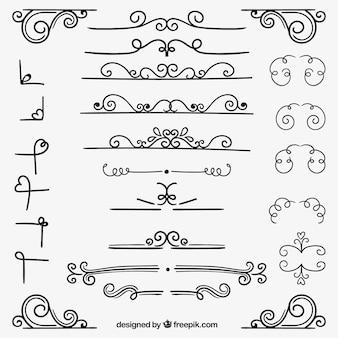 Variedade de decoração ornamental