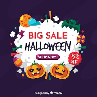 Variedade de design de halloween para vendas