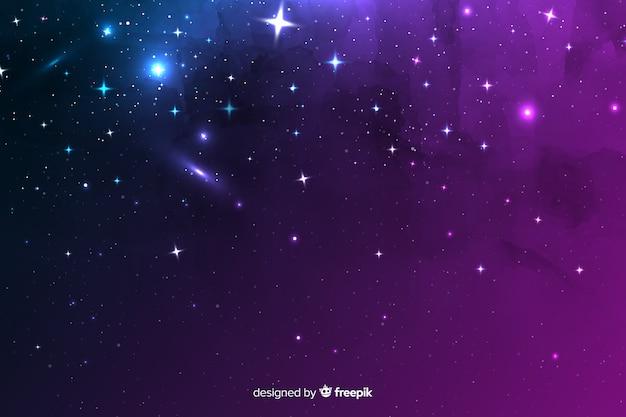 Variedade de elementos cósmicos em um fundo de noite