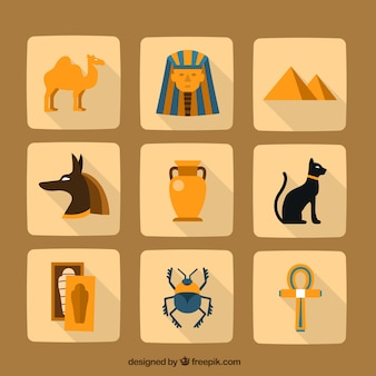 Variedade de elementos egípcio