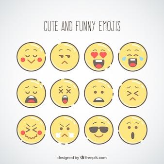 Variedade de emoticons engraçados