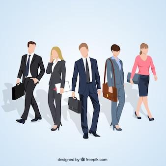 Variedade de empresários ilustração