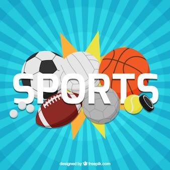 Variedade de esferas do esporte fundo