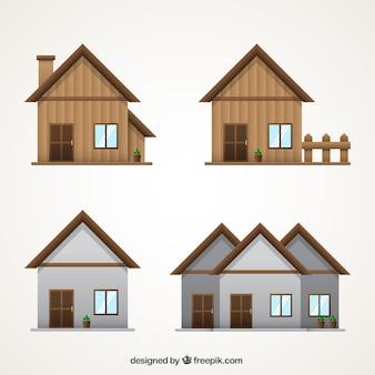 Variedade de fachadas decorativas com variedade de modelos