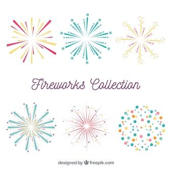 Variedade de fogos de artifício