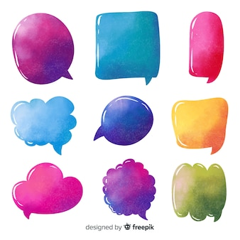 Variedade de formas para coleção de bolha do discurso