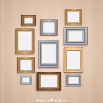Variedade de frames retros parede