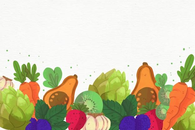 Variedade de frutas e legumes