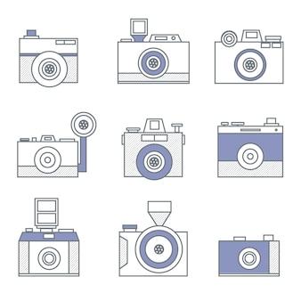 Variedade de ícones da câmara