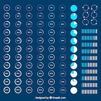 Variedade de ícones de carga