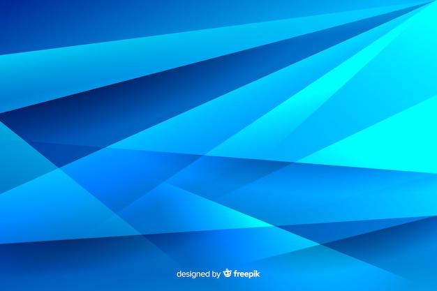 Variedade de linhas azuis e sombras de fundo