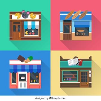 Variedade de lojas