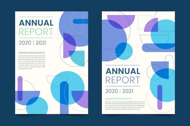 Variedade de modelos abstratos de relatório anual