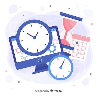Variedade de objetos que mostra o tempo