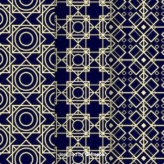 Variedade de padrão geométrico de luxo