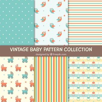 Variedade de padrões bonitos bebês
