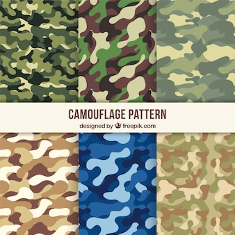 Variedade de padrões de camuflagem