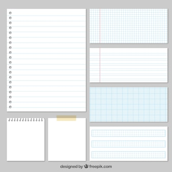Variedade de papéis