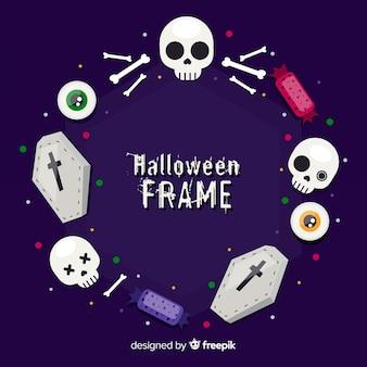 Variedade de quadro de decoração de halloween