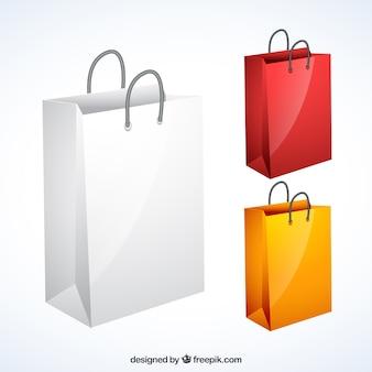 Variedade de sacos de compras