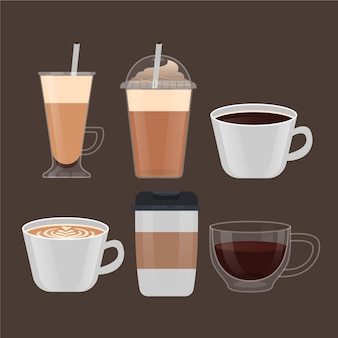 Variedade de tipos de café