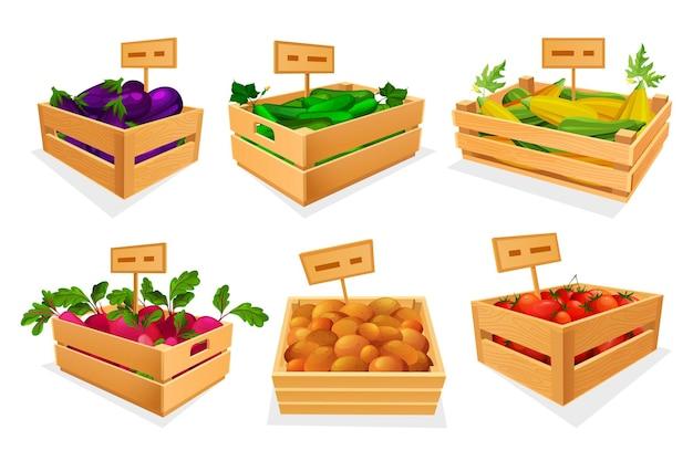 Variedade de vegetais no mercado ou loja