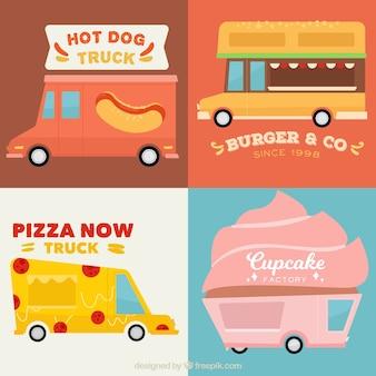 Variedade divertida de logotipos de caminhão de alimentos