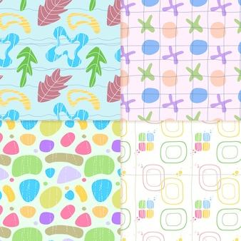 Variedade e coleção de padrão abstrato desenhada
