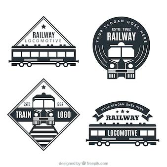 Variedade, escuro, trem, logotipos