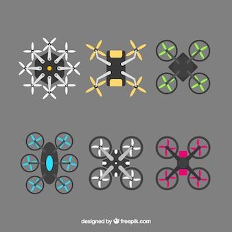 Variedade moderna de drones planos