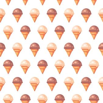Vário, sorvete, cones, seamless, padrão