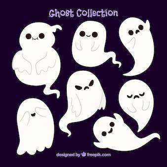 Vários belos fantasmas de halloween
