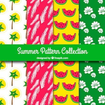 Vários, coloridos, verão, padrões