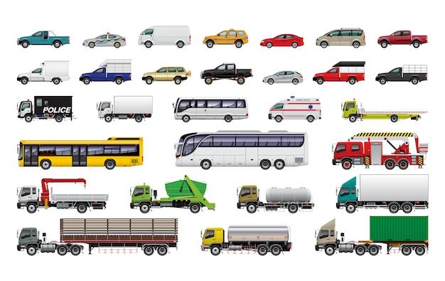 Vários conjunto de carro
