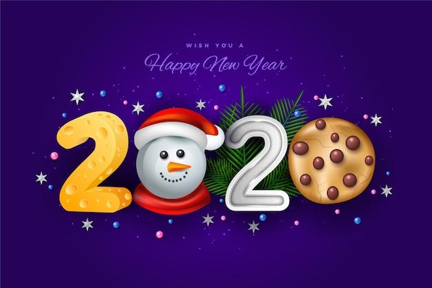 Vários desenhos engraçados para o texto do ano novo de 2020