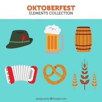 Vários elementos icônicos da oktoberfest