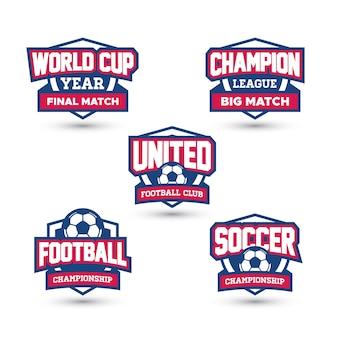 Vários emblemas de futebol