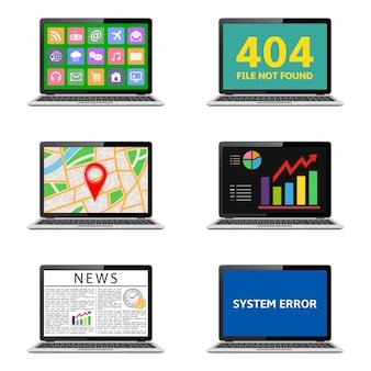 Vários laptops