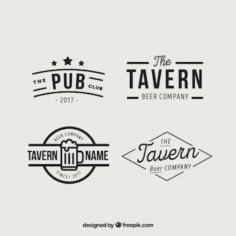 Vários logotipos para tabernas