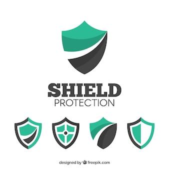 Vários logotipos protetor