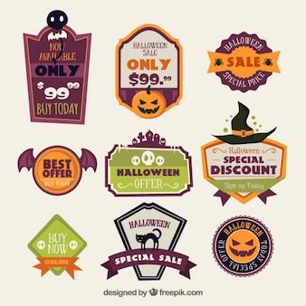 Vários negócios halloween stickers
